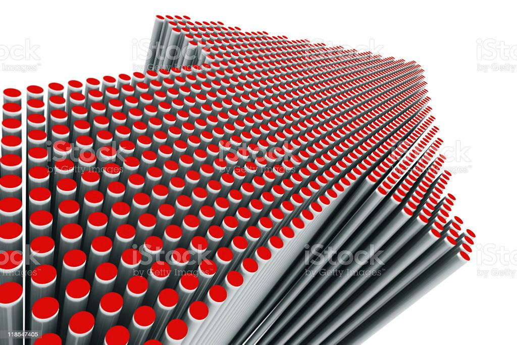 Red Dots Arrow royalty-free stock photo