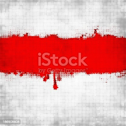 istock Red dotted banner 186908608
