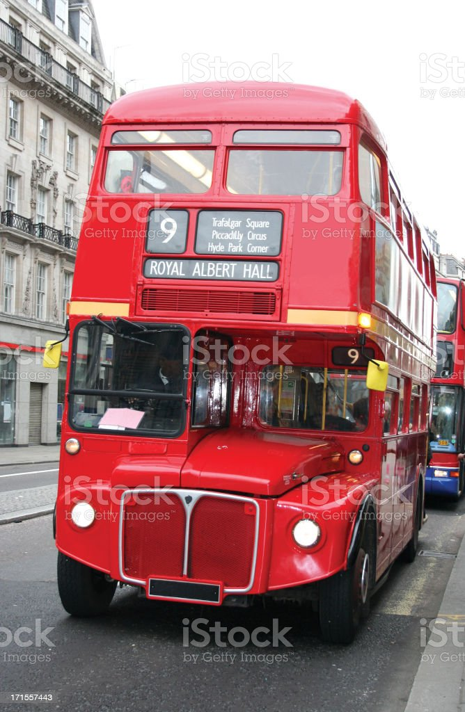 red double decker London bus royalty-free stock photo