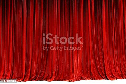 red drape background