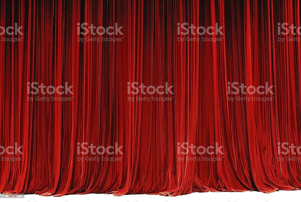 red drape stock photo
