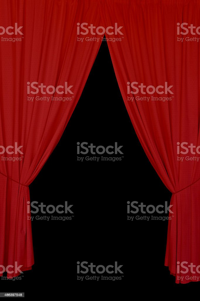 red drapes background stock photo
