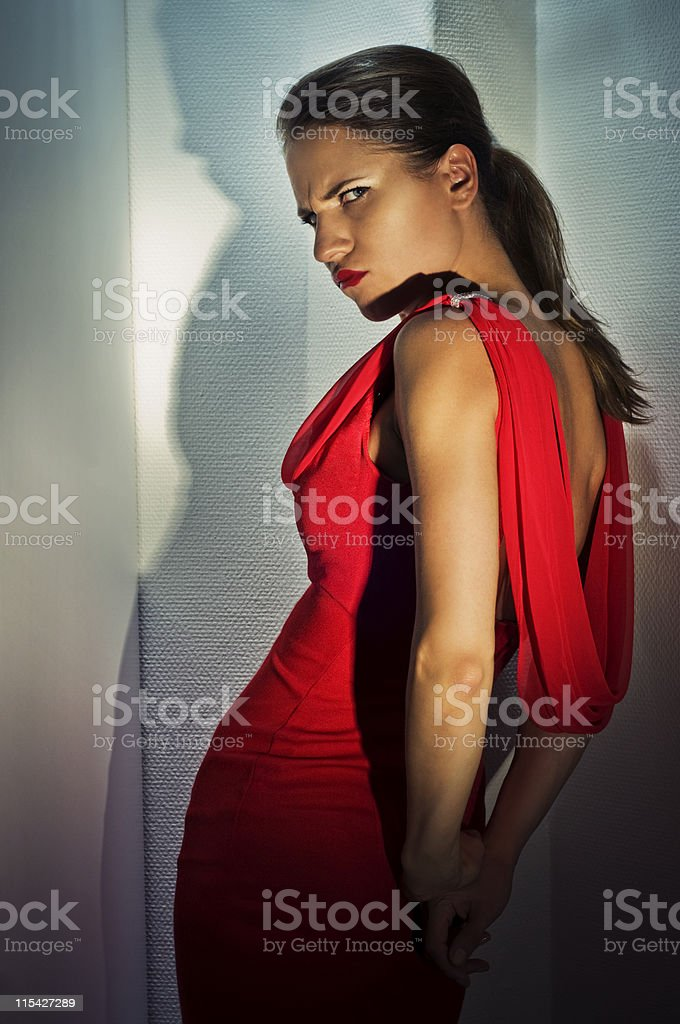 red dress royalty-free stock photo