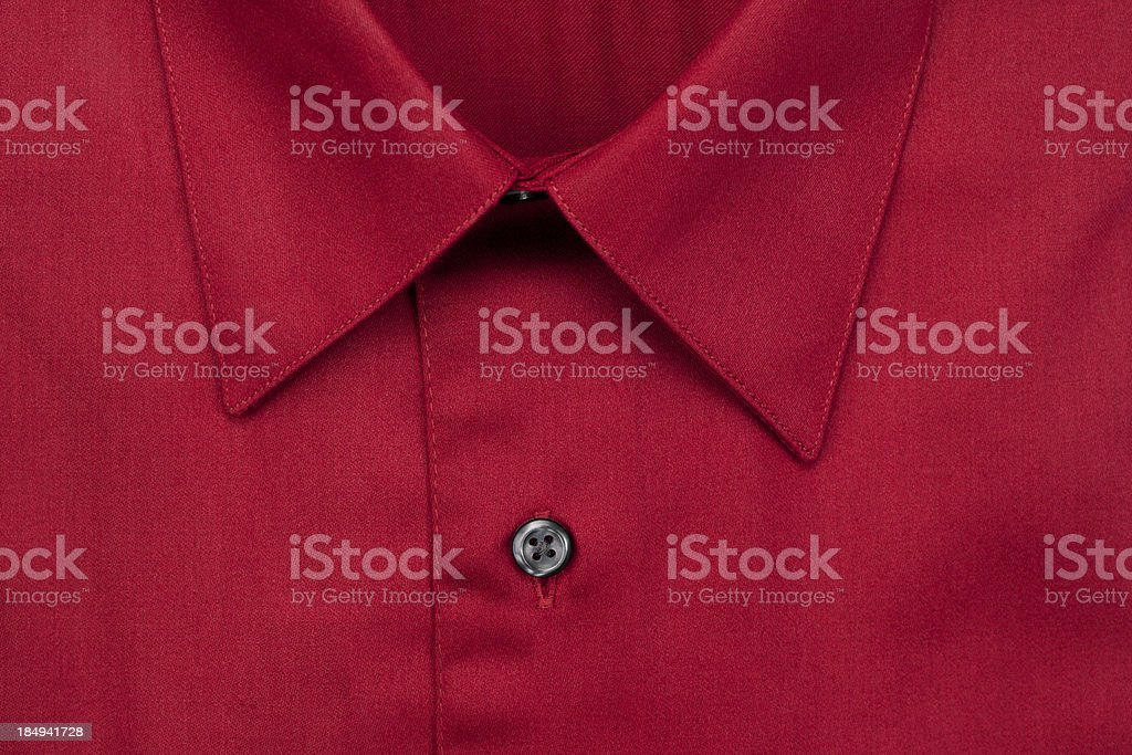 Red Dress Shirt Close-up royalty-free stock photo