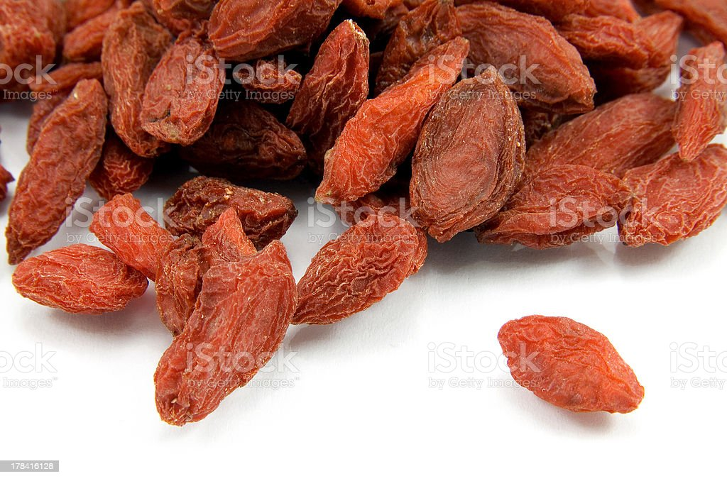 Red dried tibetan goji berries royalty-free stock photo