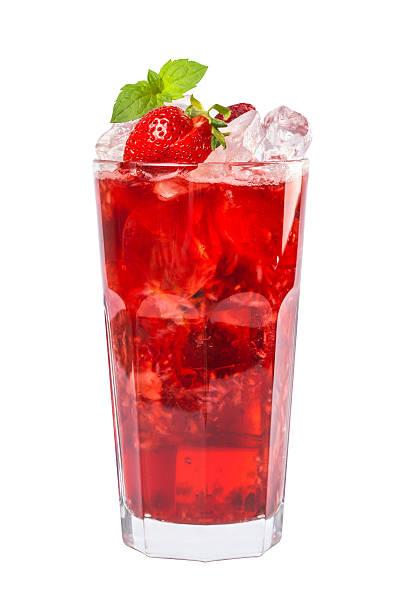 Red drink, isoliert auf weißem Hintergrund – Foto