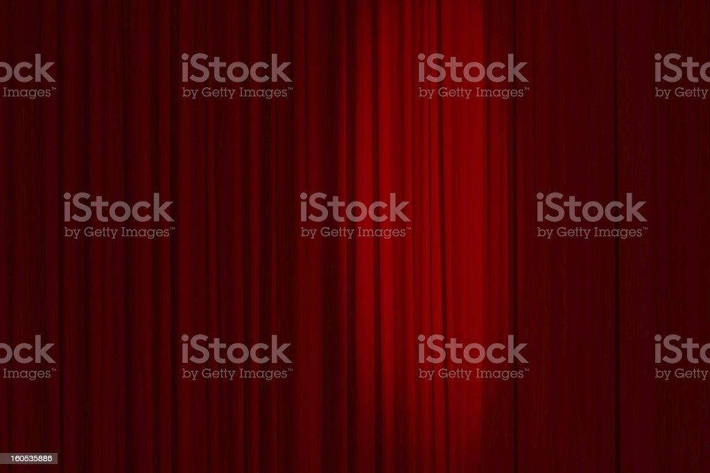 Red drop curtain in cinema or theatre stock photo