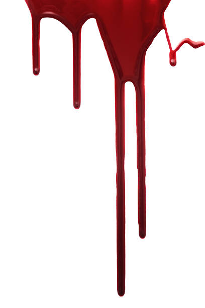 Red drop of blood isolated stock photo