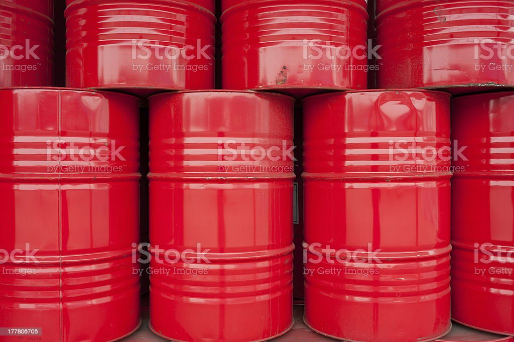 Red drums stock photo