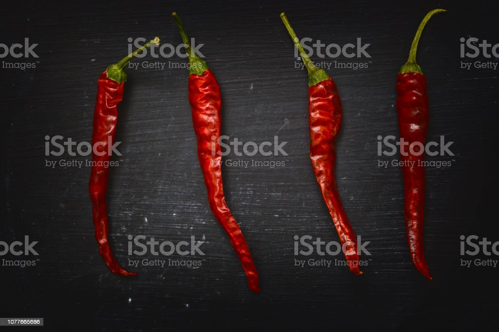 Trockene rote Chilischoten – Foto