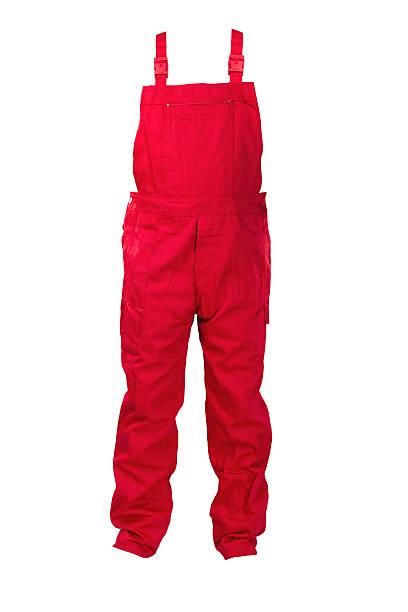 Salopette rouge -protective vêtements. - Photo
