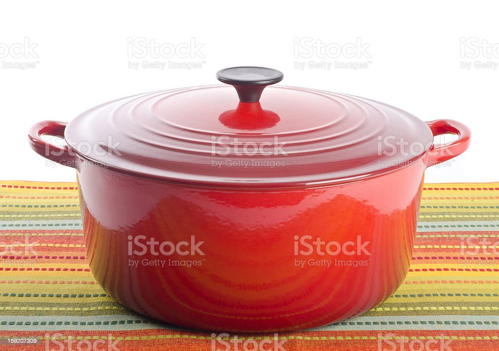Red Dutch Oven stock photo
