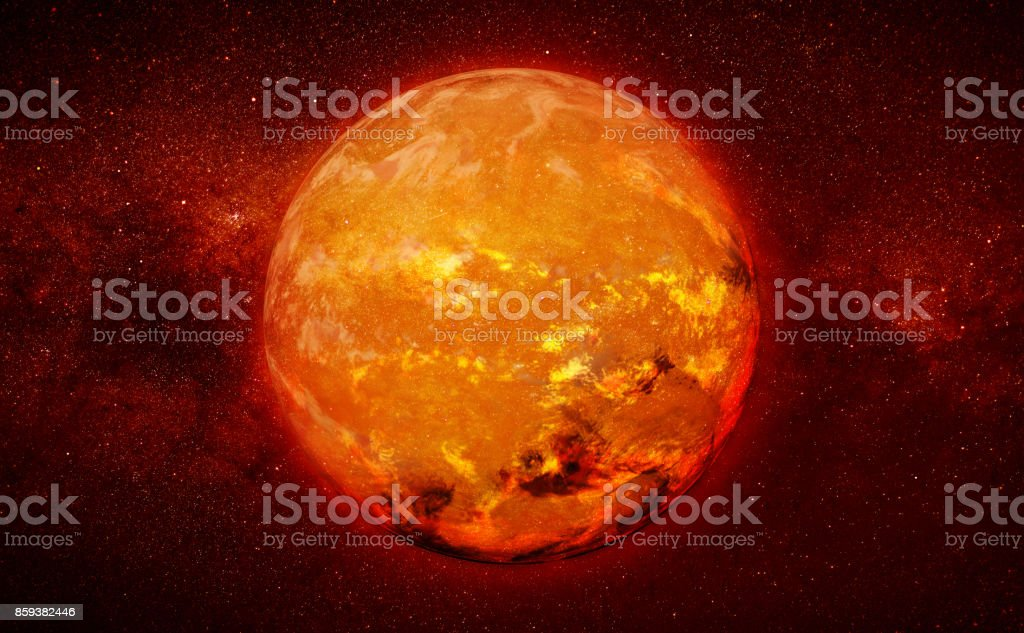 red dwarf star in a star field stock photo