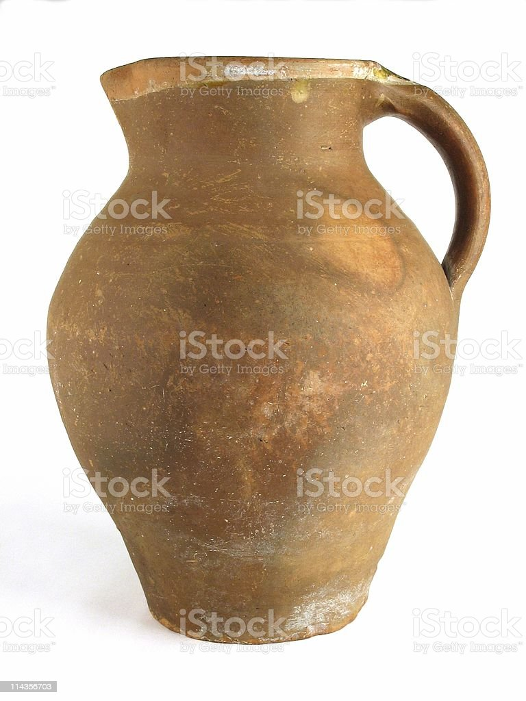 Red Earthenware Jug stock photo