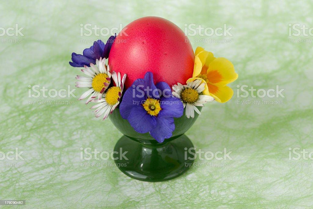 Red easter egg stock photo