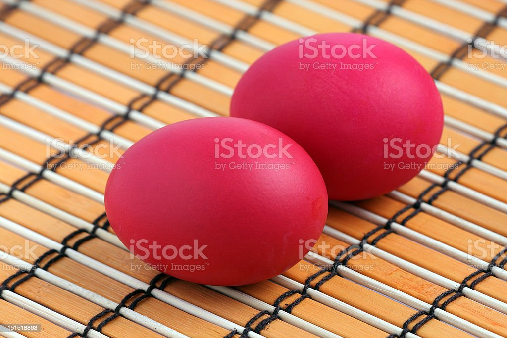 Red Eggs royalty-free stock photo