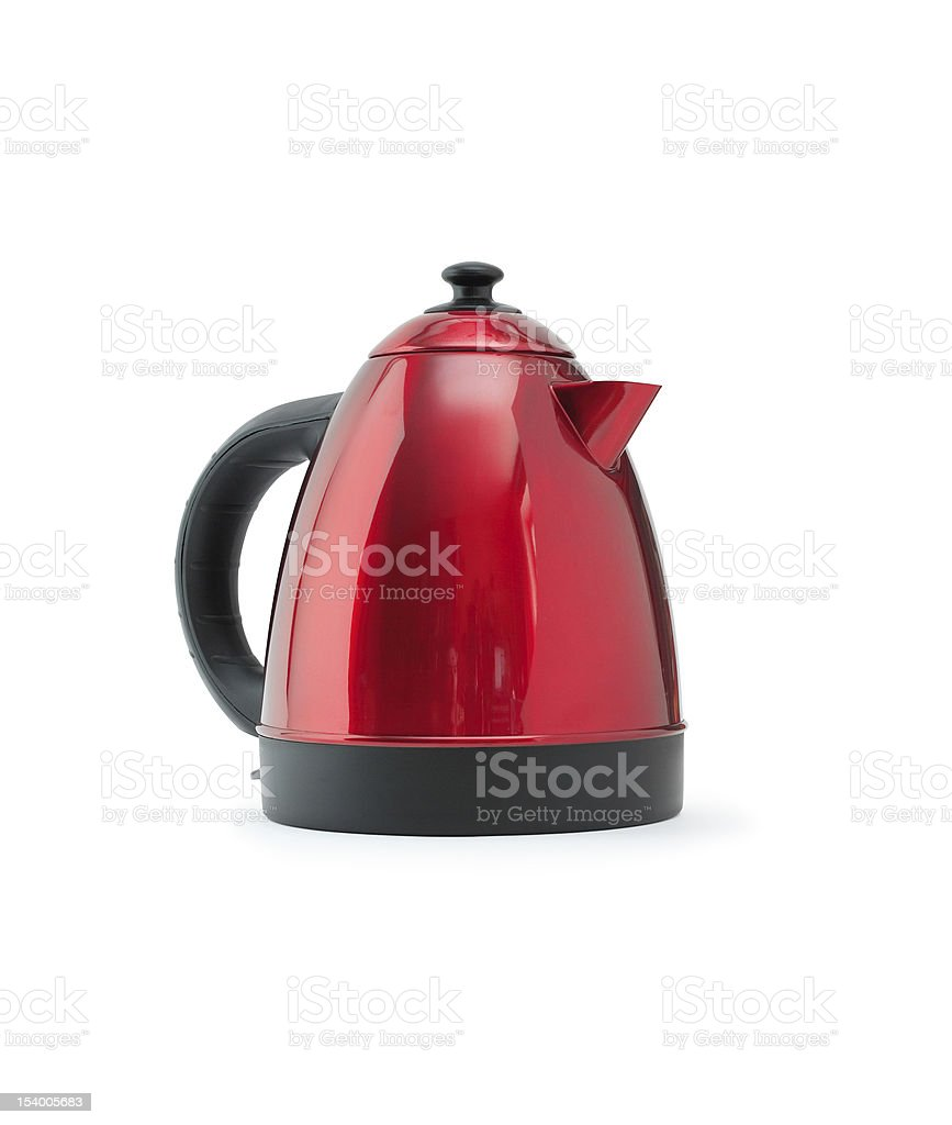 Red Electric Kettle stock photo