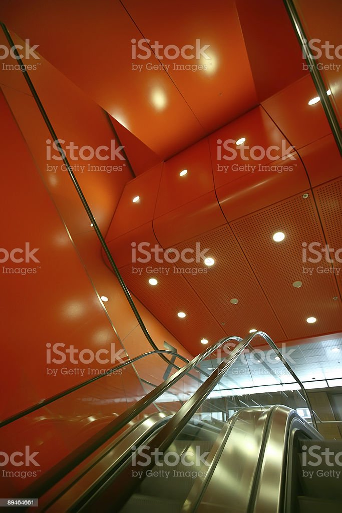 red elevator royalty-free stock photo