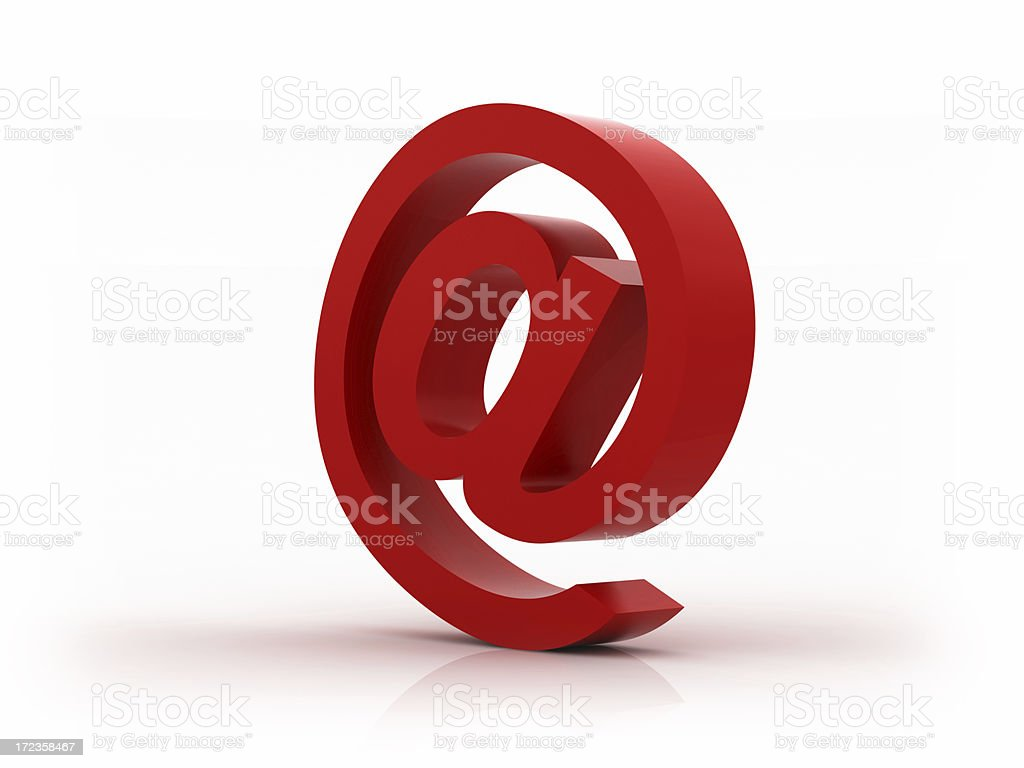 Red E-mail Symbol (XXL) royalty-free stock photo