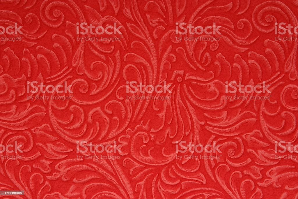 Red Embossed Felt Background stock photo