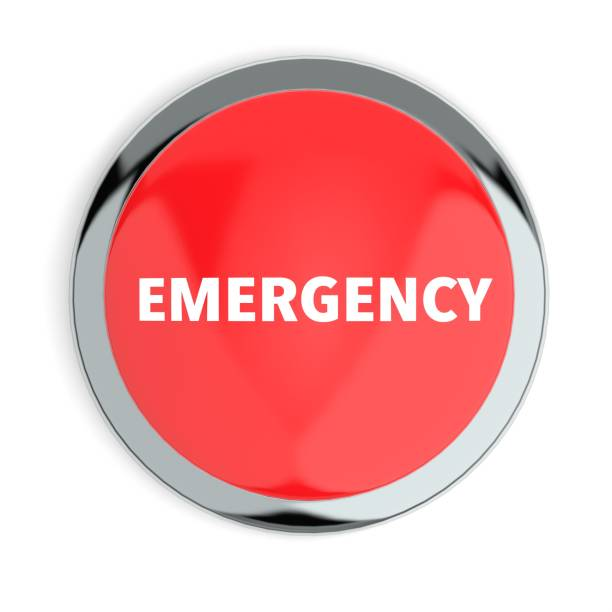 Red Emergency Button stock photo
