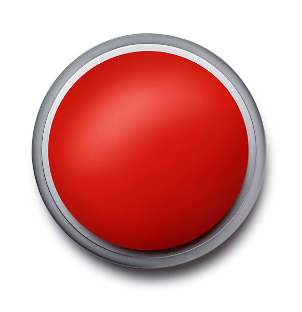 Botón de emergencia rojo - foto de stock