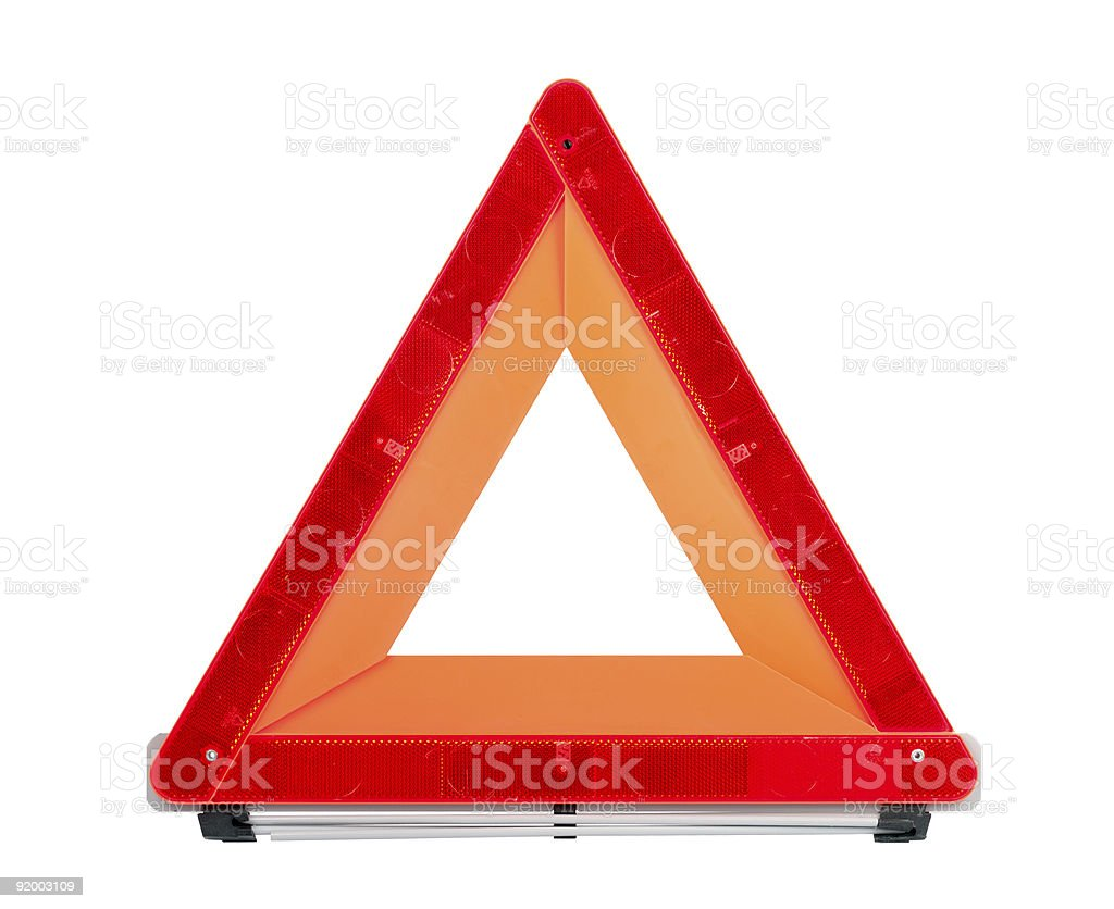 Red Emergency Sign royalty-free stock photo