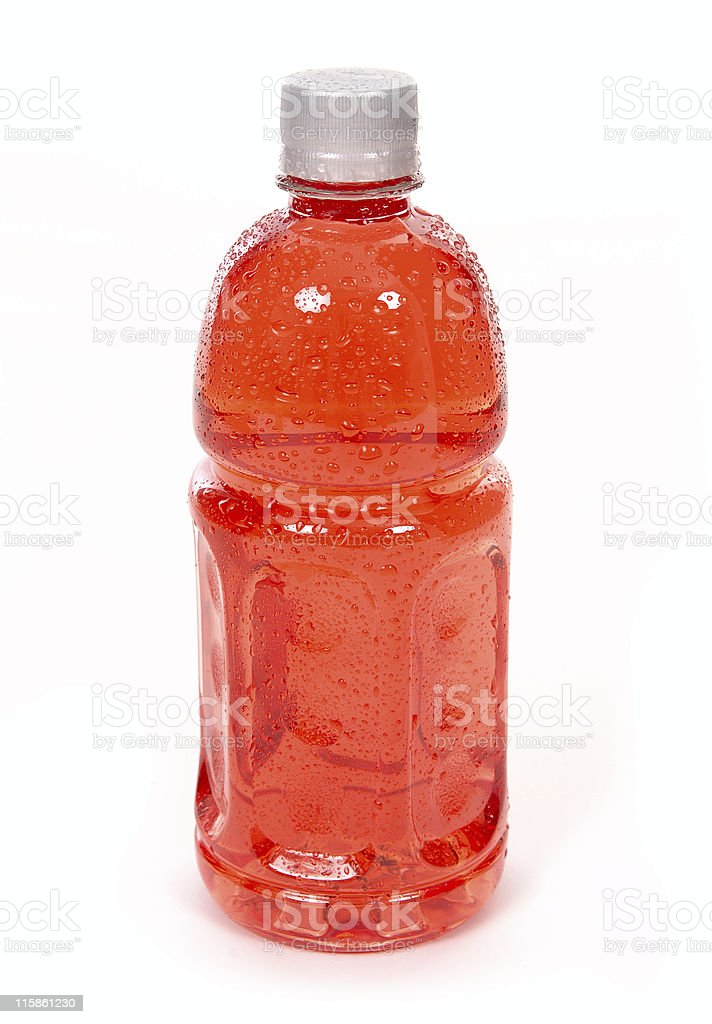 Red energy with water drops royalty-free stock photo