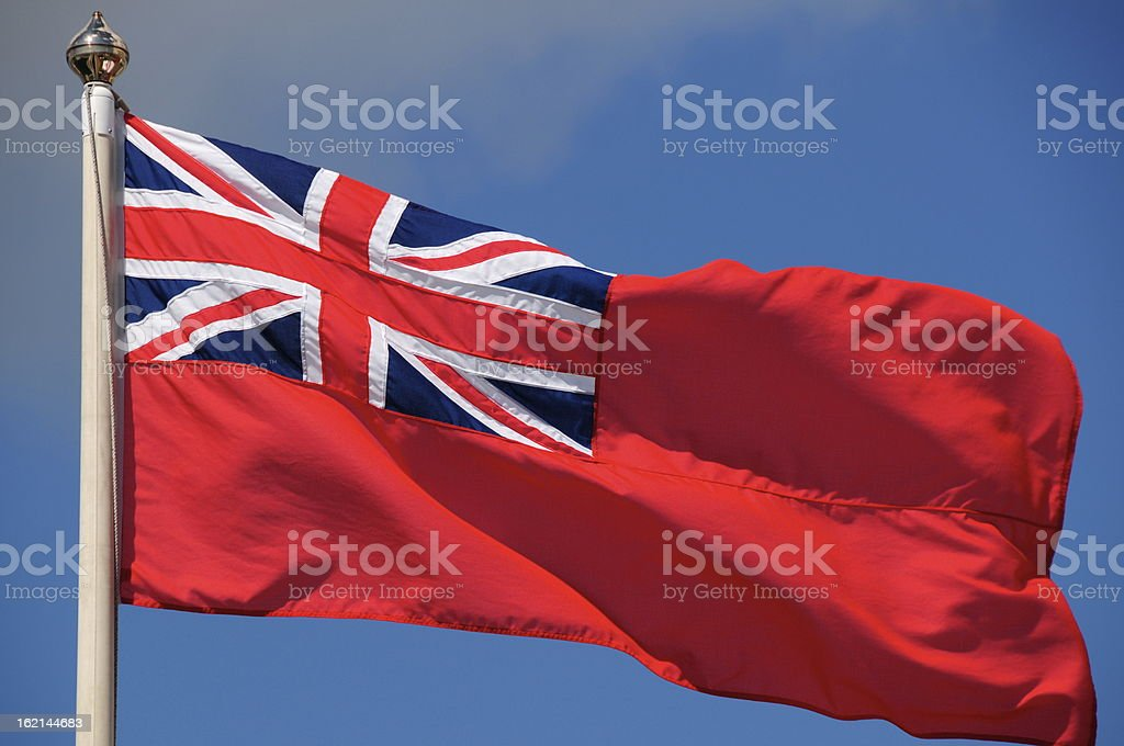 Red Ensign,Jersey. stock photo