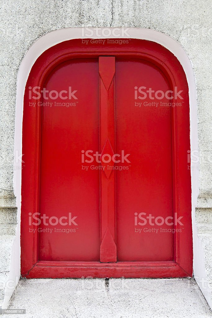 Red entrance, permission concept royalty-free stock photo