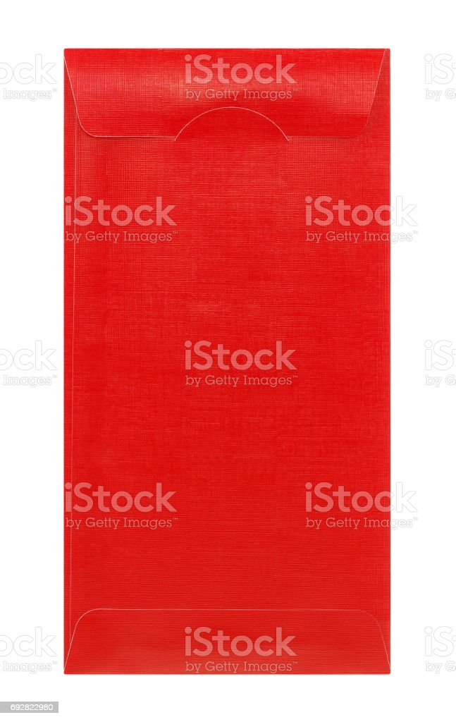 Red envelope isolated on white background royalty-free stock photo
