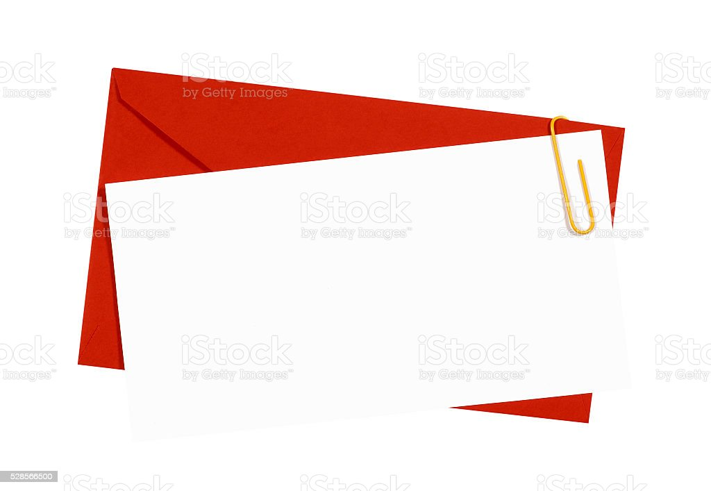 Red Envelope With Blank Invitation Card Stock Photo Download Image Now