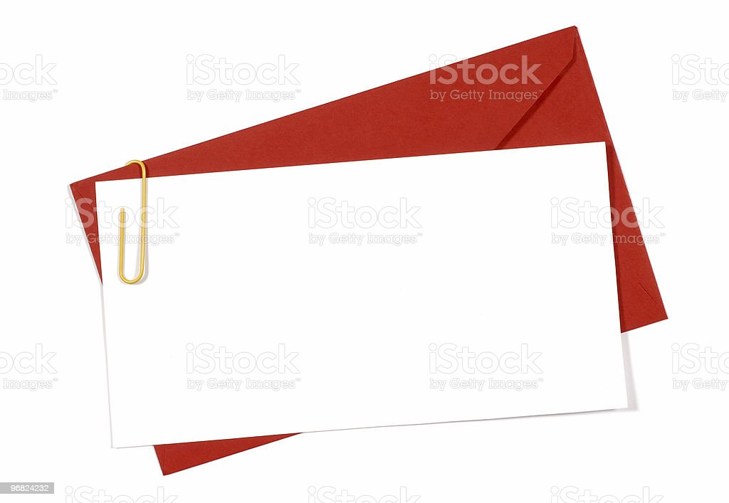 Red envelope with blank invitation card royalty-free stock photo