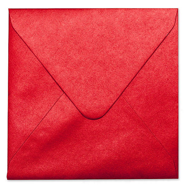 Red Envelope With Clipping Path stock photo