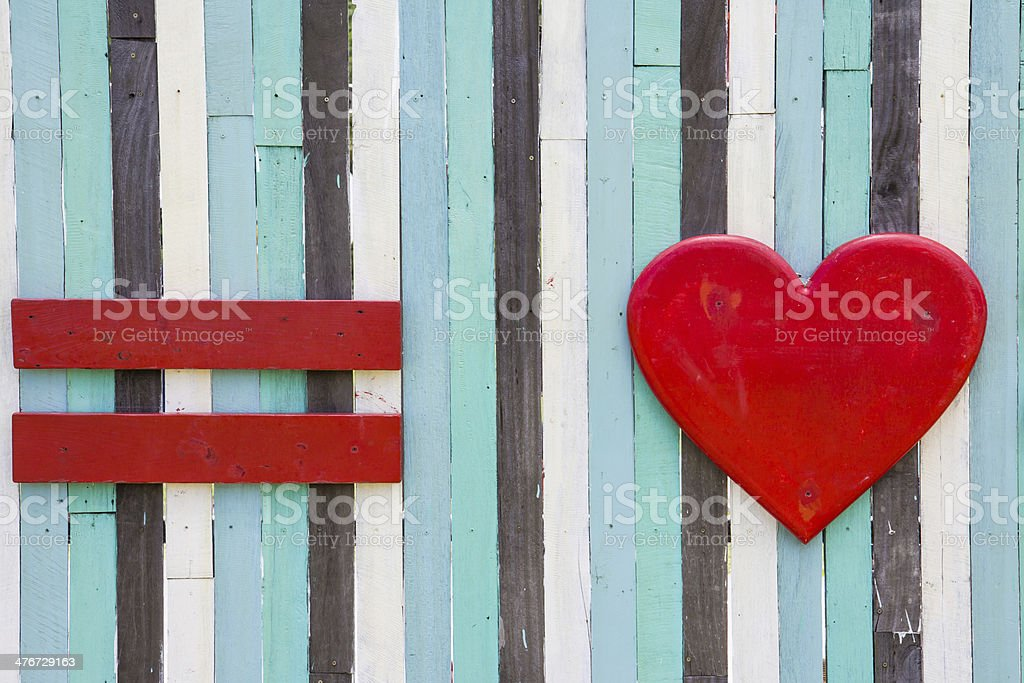 red equal and love symbol royalty-free stock photo