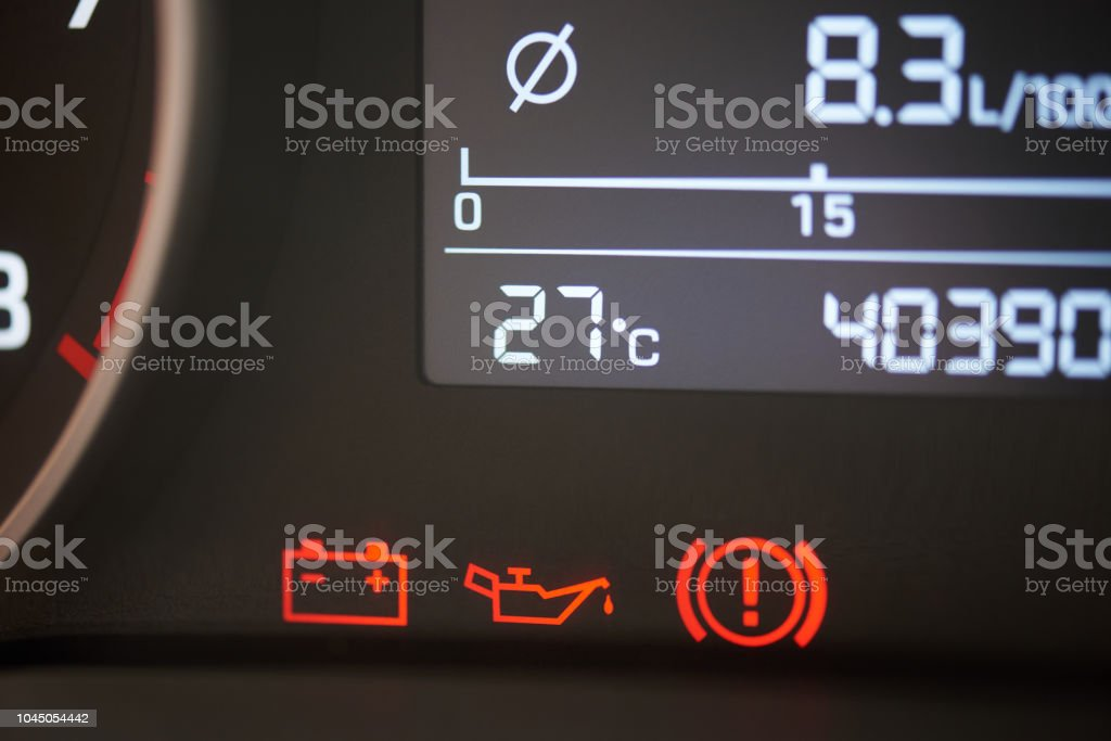 Red error car icons stock photo