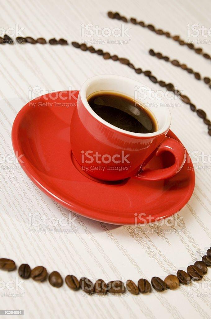 Red espresso coffee royalty-free stock photo
