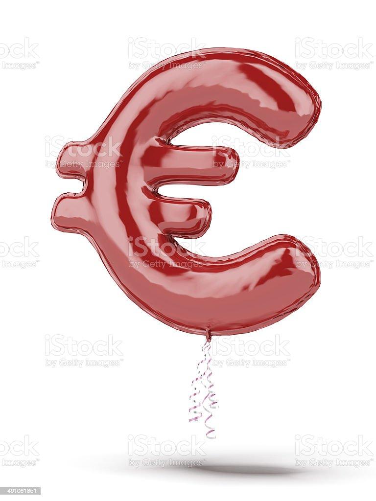 Red euro balloon stock photo