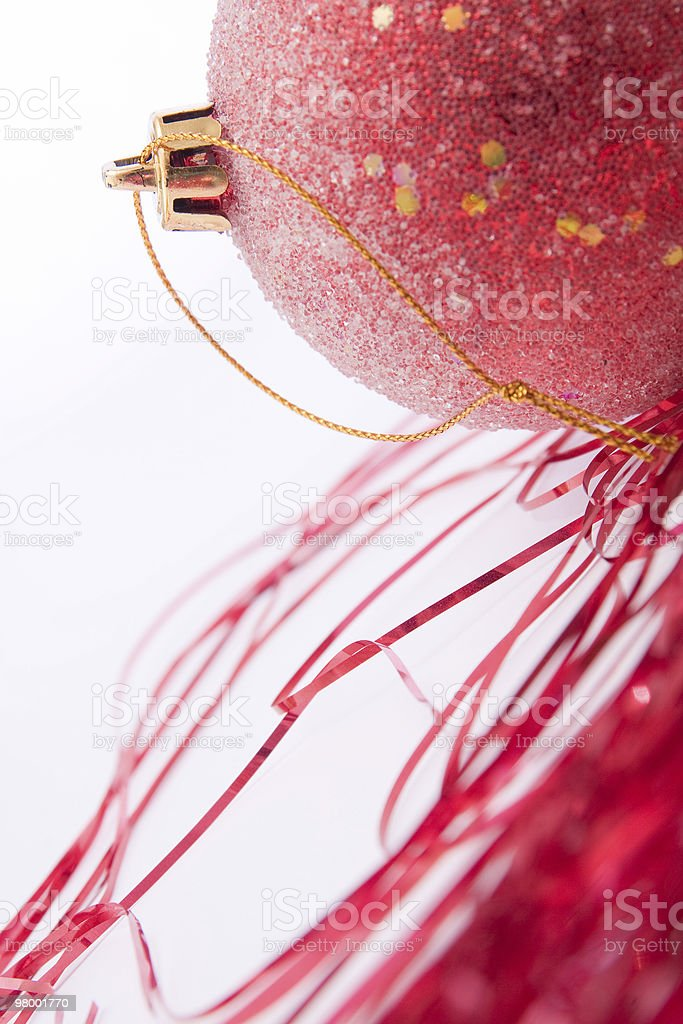 red evening ball on white background royalty-free stock photo