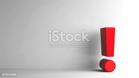 istock Red Exclamation point 678234996