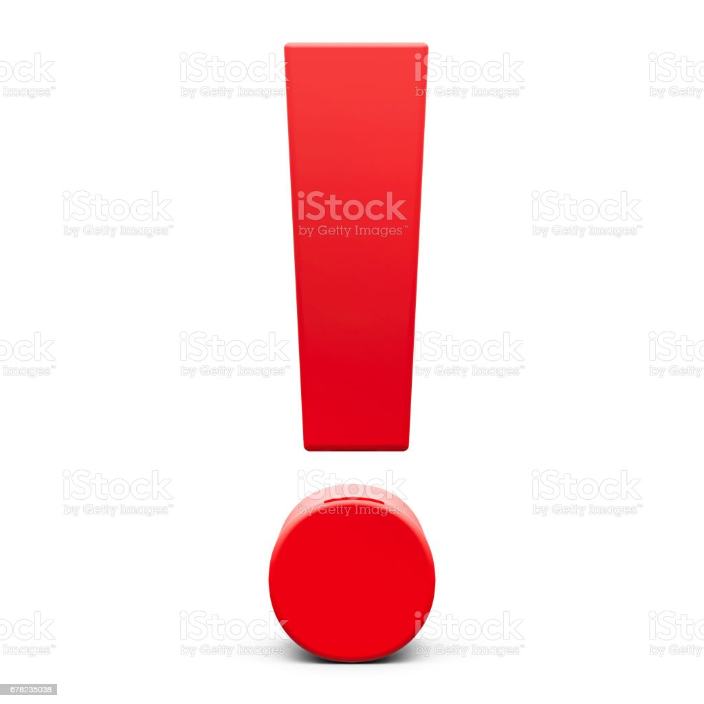 Red Exclamation point #2 stock photo