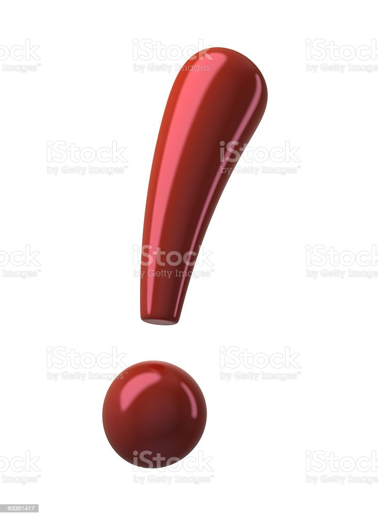 Red Exclamation Point stock photo