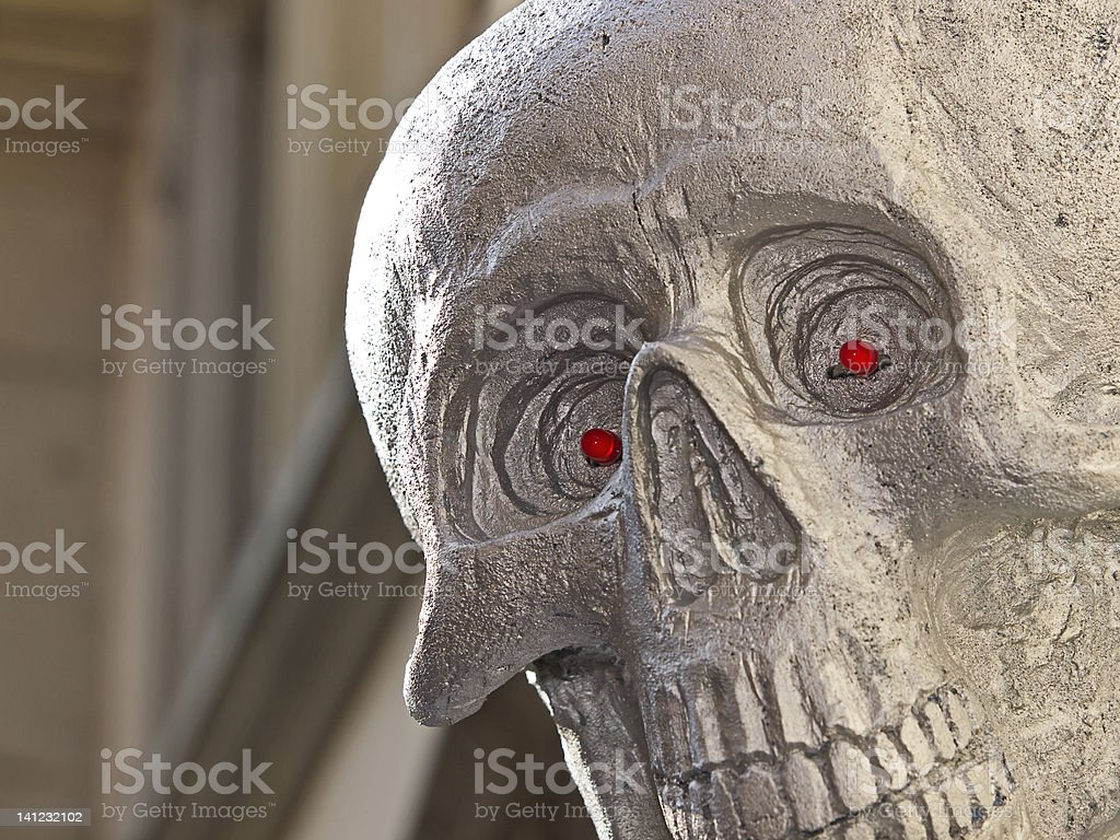 Red eyes stock photo