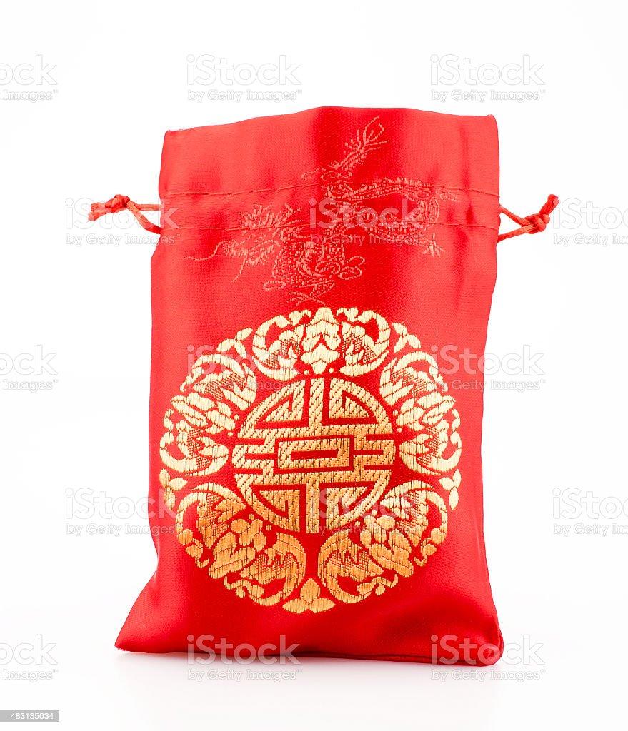 Tissu De La Reunion photo libre de droit de tissu rouge160 ang un sac ou une