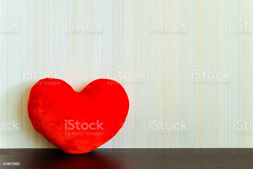 Red fabric heart stock photo