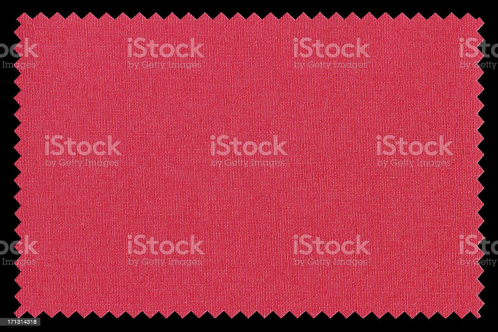 Red Fabric Swatch background textured stock photo