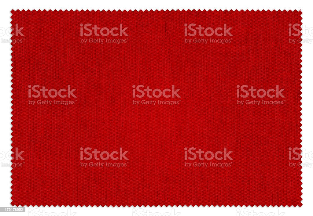Red Fabric Swatch (Clipping Path) royalty-free stock photo