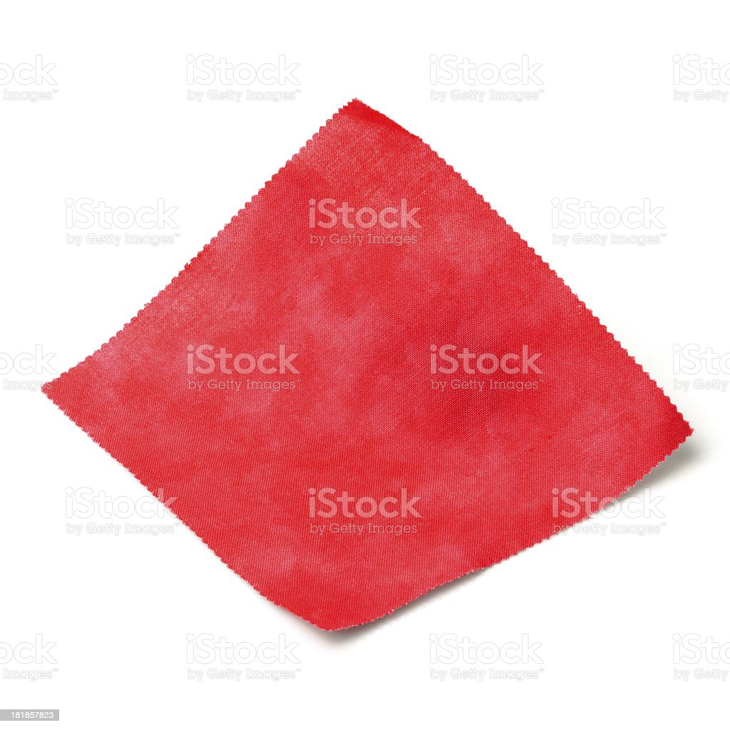 Red Fabric Swatch royalty-free stock photo