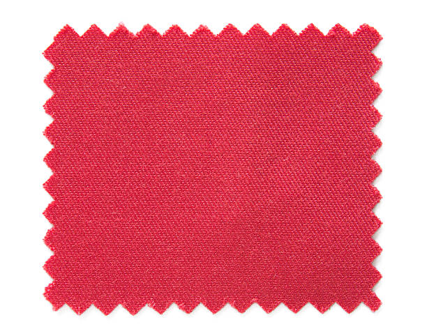 red fabric swatch samples stock photo