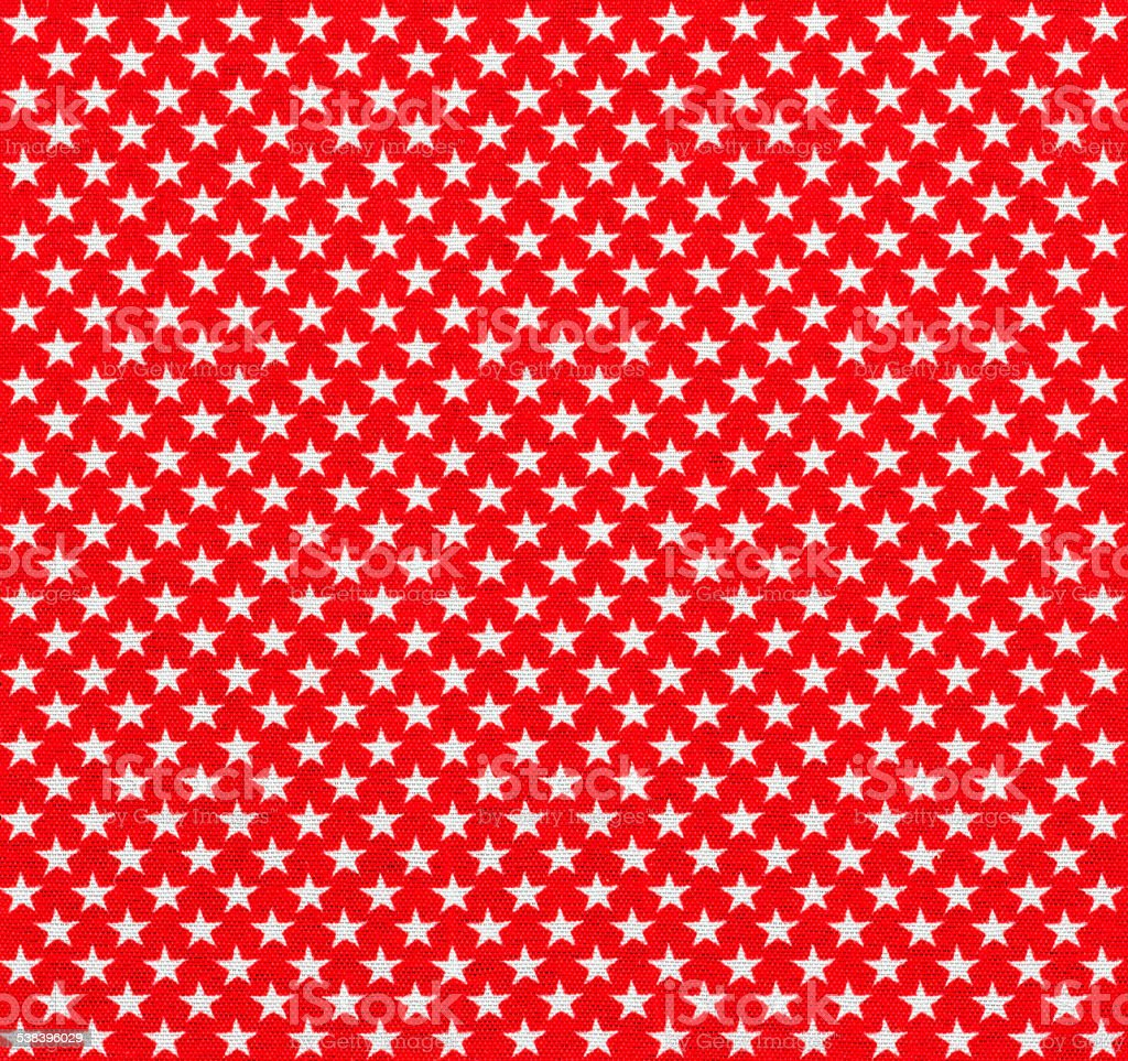 Red fabric with white stars stock photo